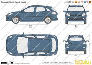 Renault Clio Dimensions The Blueprints Vector Drawing Renault Clio Iii Estate