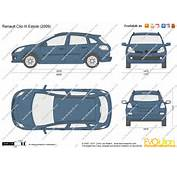 The Blueprintscom  Vector Drawing Renault Clio III Estate