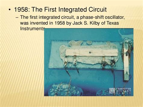 integrated circuit 1958 1958 kilby integrated circuit 28 images a brief history of computers ppt quotes by kilby