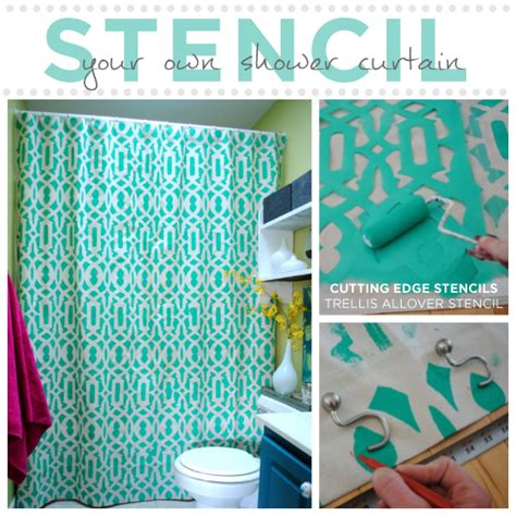 how to make shower curtains step by step learn how to stencil your shower curtain stencil stories