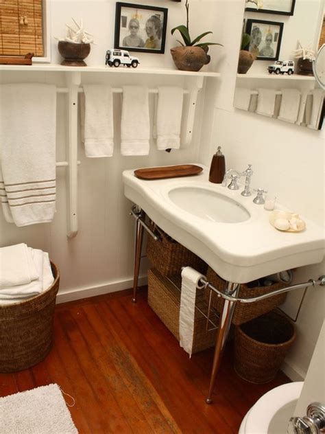 where to put towel bar in small bathroom 7 creative uses for towel racks