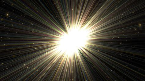 bright rays shining orb  space p motion