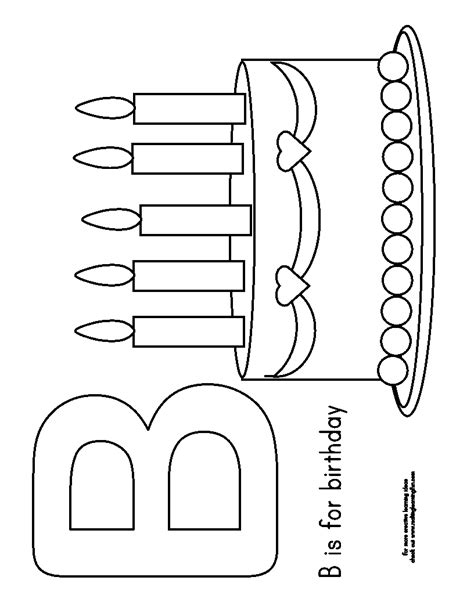 crayola birthday cake coloring page play with me birthday printables
