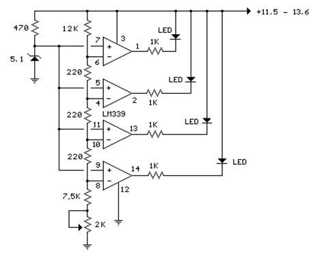alimentatore 12v con batteria tone how to build led 12 volt lead acid battery meter circuit