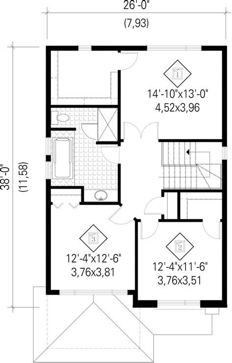 house plan 1761 square feet 57 ft house plan 1761 square feet 57 ft contemporary style house