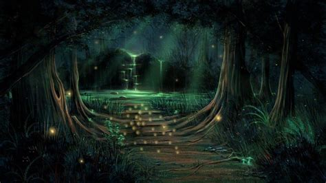 wallpaper anime photoshop image gallery magical forest wallpaper