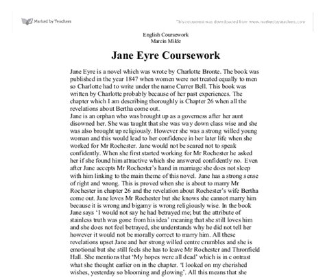 Eyre Essays by Eyre Critical Essay