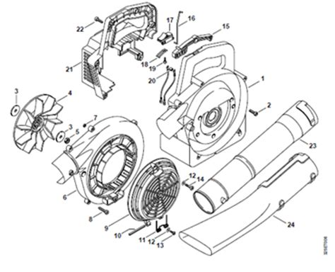 stihl bg 86 blower parts diagram solved how do i install the stihl bg72 trigger switch fixya