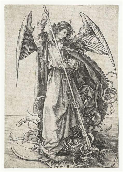 de heilige michael en de draak martin schongauer 1470