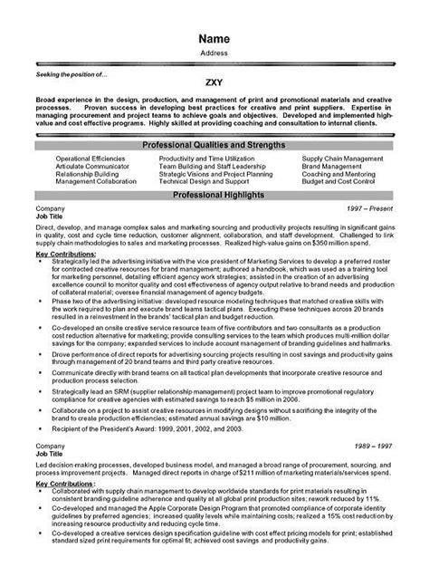 Resume Template Executive Management Project Management Executive Resume Exle