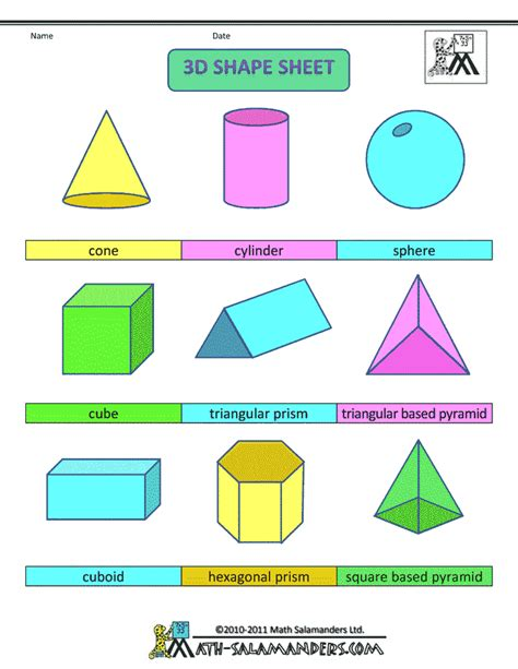 2d print 7 best images of 2d and 3d shapes printables 2d and 3d