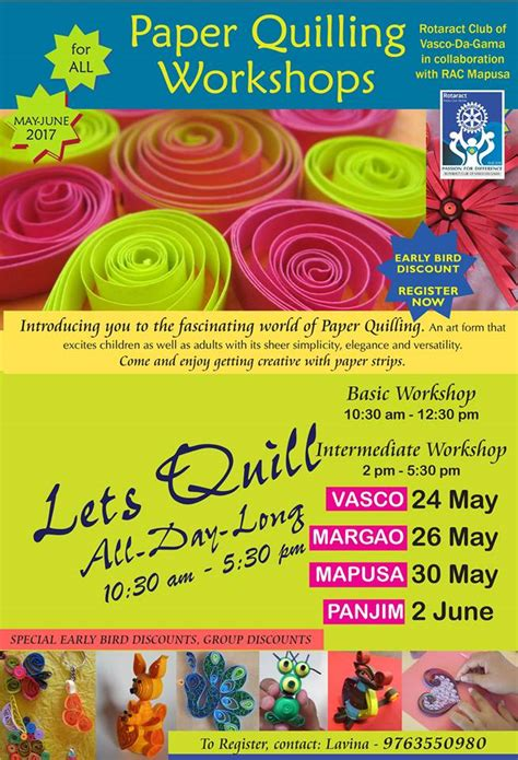 Paper Workshop - paper quilling workshop bookworm taleigao panaji