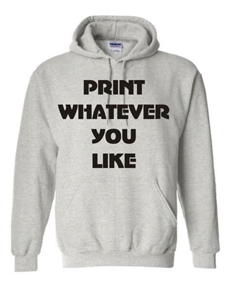 Printed Hoodie personalised custom tshirt printing company
