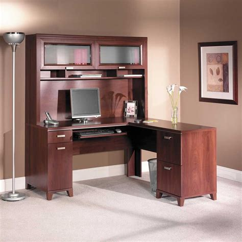 cherry black computer desk office furniture