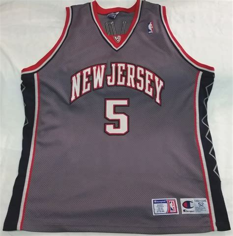 Jersey Basket Nba 52 jason kidd new jersey nets chion nba authentic alternate grey basketball jersey sz 2xl 52