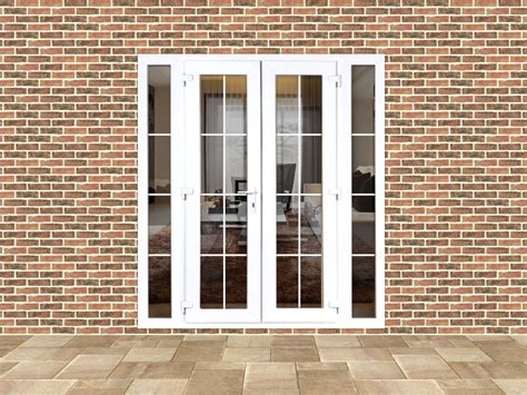 4ft upvc doors 4ft upvc georgian doors with 2 narrow upvc side