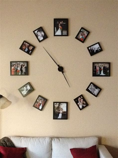 Help Me Decorate My Living Room by Cool Wall Clock Photo Display