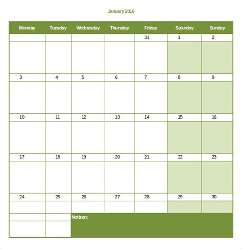 6 month calendar excel autos post