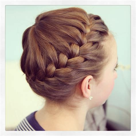 crown braid short hair hairstyles starburst crown braid updo hairstyles cute girls