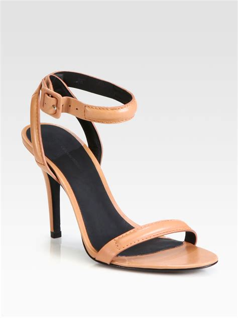 wang antonia sandals wang antonia leather ankle sandals in