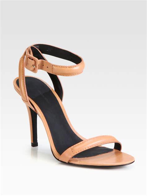 wang antonia sandal wang antonia leather ankle sandals in