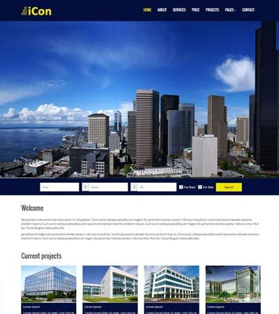 Top Real Estate Free Html Template By Webthemez Real Estate Development Website Templates
