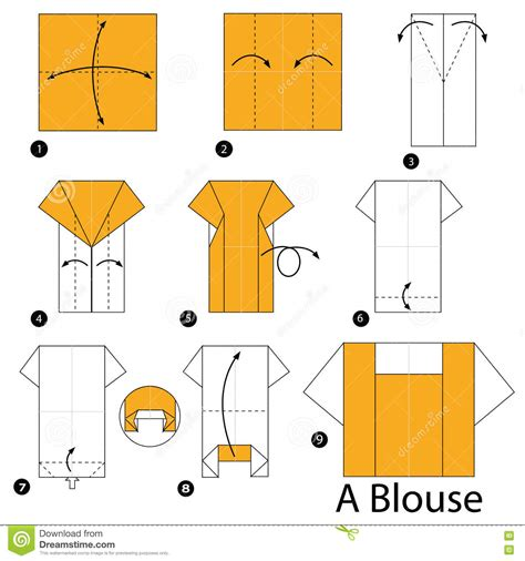 Origami Blouse - step by step how to make origami a blouse