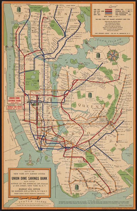 map of subway nyc maps vintage map shows new york city subway system in