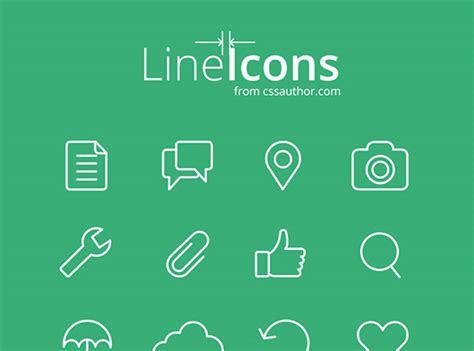 line icons for web and ui designs freebiesbug