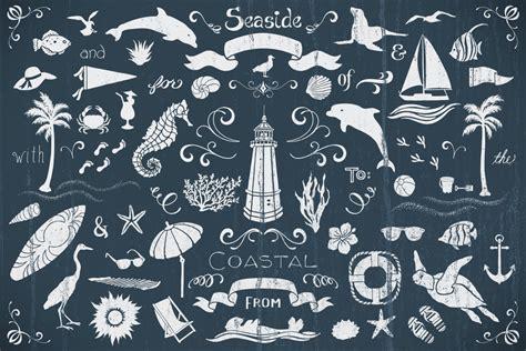 seaside nautical vector pack volume  design panoply