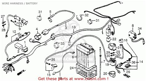 honda trx200 fourtrax 200 1984 usa wire harness battery