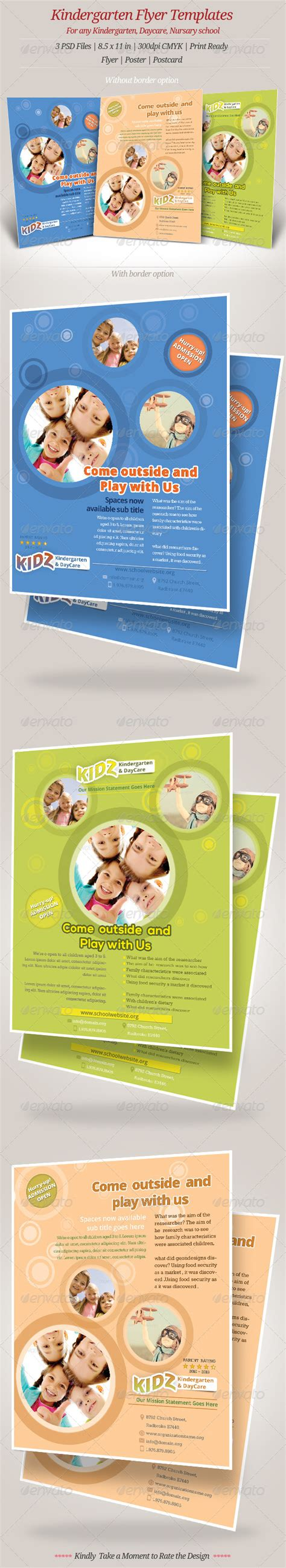 kindergarten flyer template kindergarten daycare flyer templates by geon graphicriver