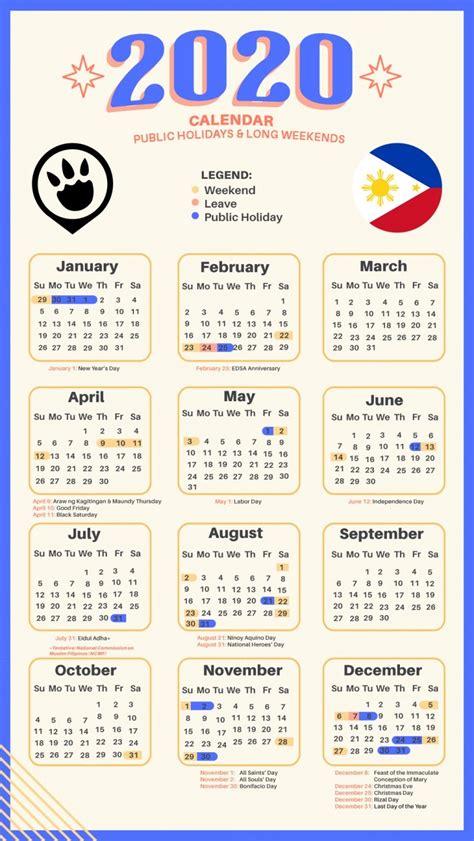 long weekends   philippines   calendar  cheat sheet