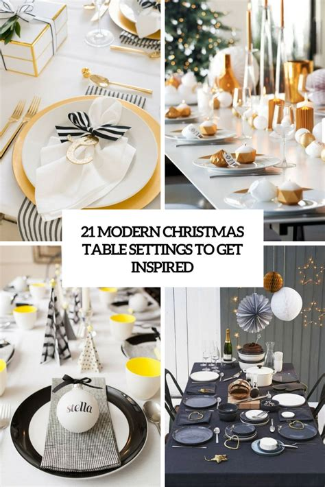 Different Design Styles Home Decor 21 modern christmas table settings to get inspired