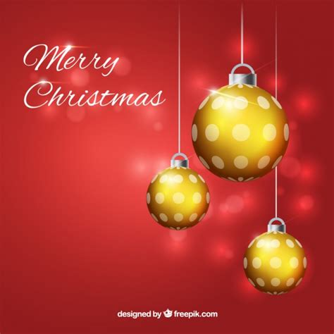 shiny christmas baubles background vector premium download