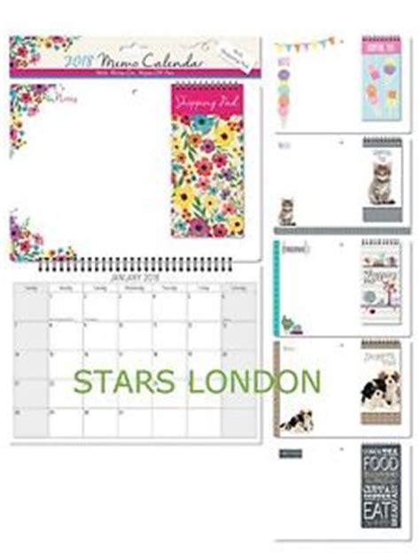 Calendar 2018 Ebay Uk 2018 Monthly Memo Calendar With Shopping List Pad Pen Ebay