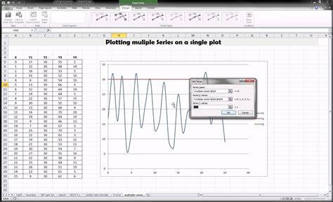 excel 2010 tutorial 13 line chart youtube excel plotting multiple lines on one plot youtube