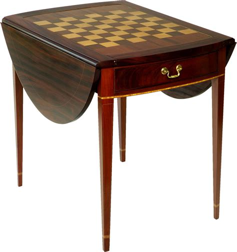 Gaming Table by Inlaid Tables Federal Pembroke Gaming Table