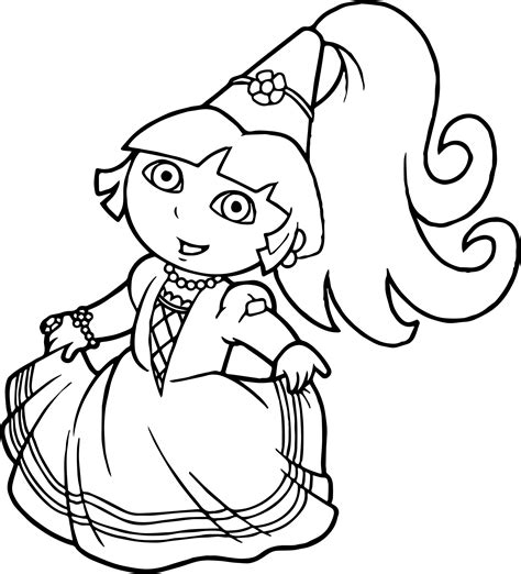 dora ballerina coloring pages princess dora the explorer coloring page wecoloringpage