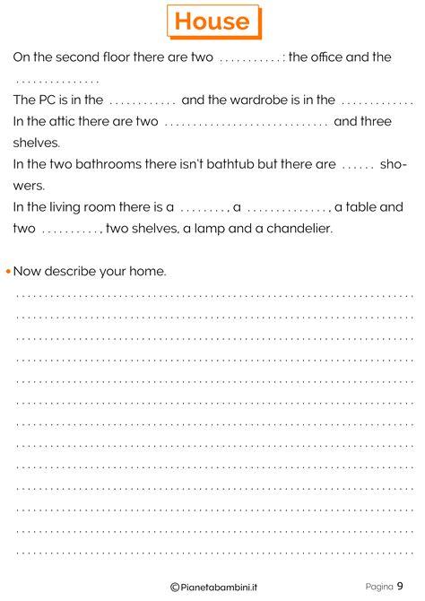 sulla casa vocaboli della casa in inglese esercizi per la scuola