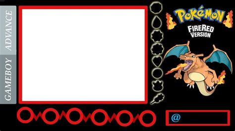 youtube red layout my pokemon fire red game layouts overlays borader for