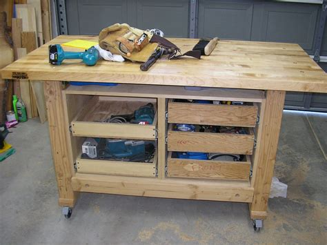 workshop bench diy wood design portable woodworking table plans