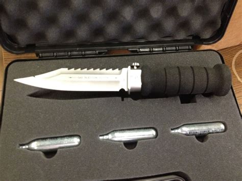 wasp knife for sale wasp injection knife 6 75 quot bead blast bowie fixed blade
