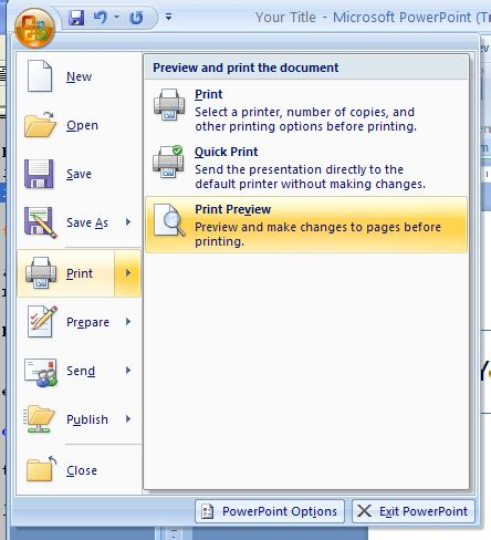 tutorial microsoft powerpoint 2007 change preview options preview 171 introduction