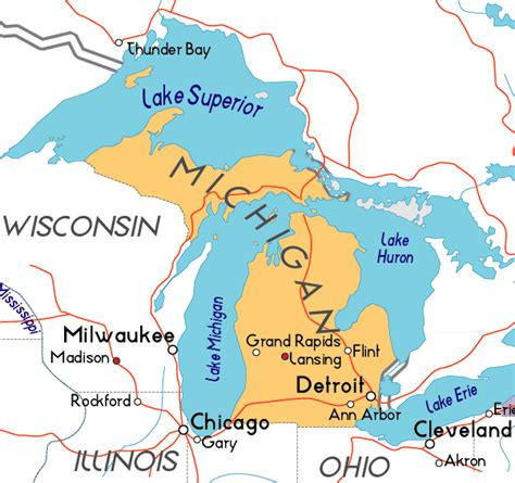 physical map of michigan physical map of michigan picture image by tag