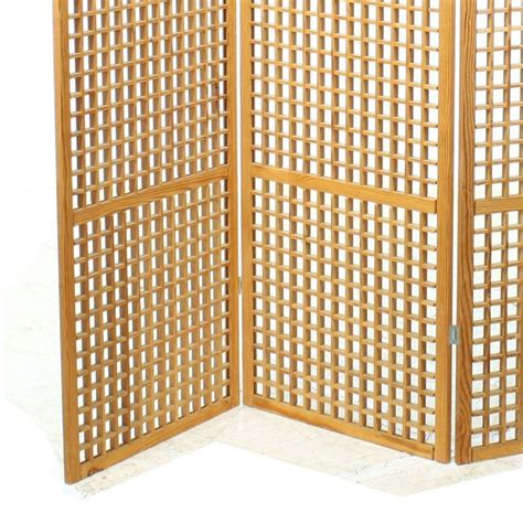 Lattice Room Divider Contemporary Pine Lattice Folding Screen Room Divider Ebay