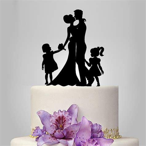 Topper Siluet Wedding Acrilik acrylic wedding cake topper silhouette and by walldecal76