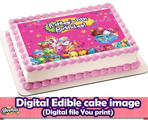 Shopkins Cake Topper Shoppin shopkins edible cake topper shopkins decorationsleon