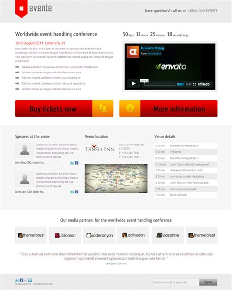 wordpress event theme event management website templates