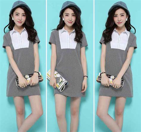 Kasual Fashion Dress Murah mini dress lengan pendek casual 2016 model terbaru